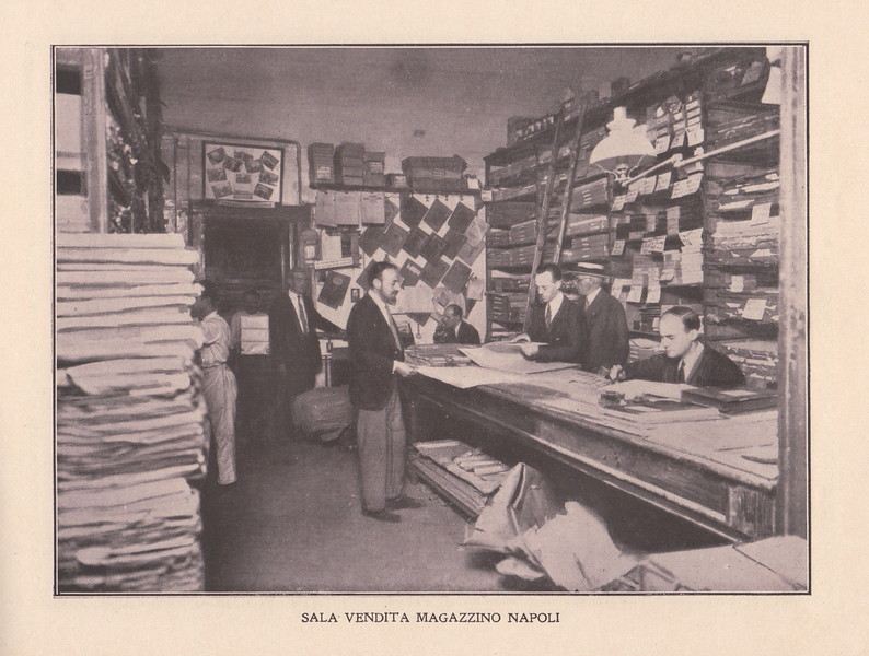 The sales room. Catalog of the Vincenzo Lubrano foundry in Naples. 1920s.