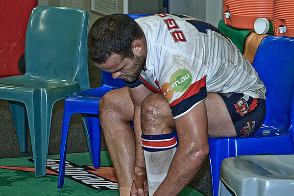 Roosters vs Wests Tigers - After Match in Locker room