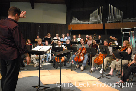 """Jack Gabel's """"The Fall '01"""" rehearsals and performances, Warner Pacific College."""