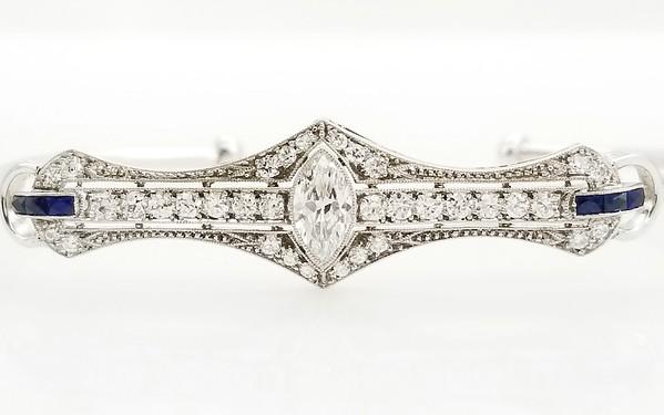 0.70ct (est) Vintage Marquise in Art Deco Bracelet