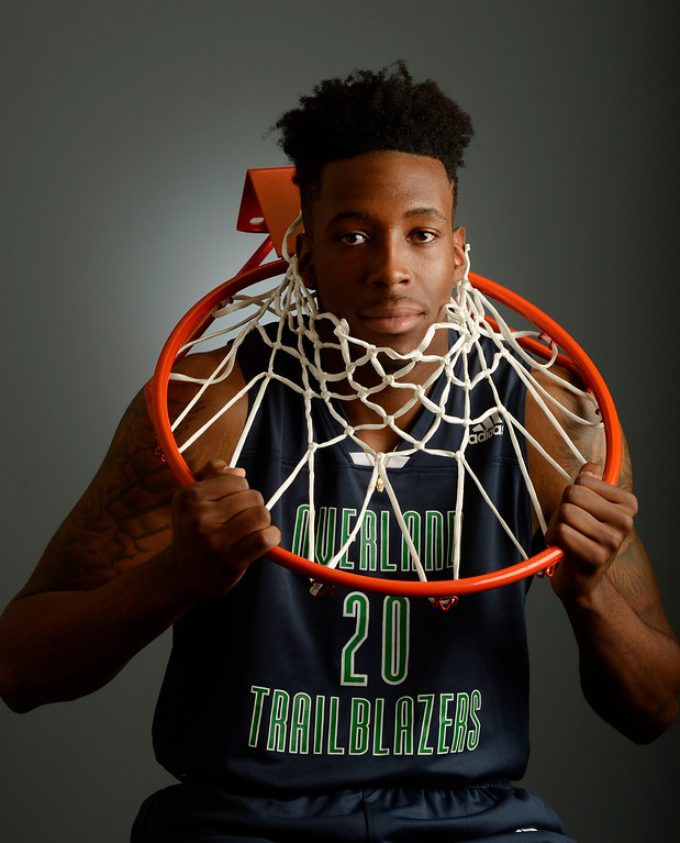 . The  Colorado All-State basketball teams for boys and girls at The Denver Post on Wednesday, March 30, 2016.  De\'Ron Davis of Overland High School, senior.  (Photo by Cyrus McCrimmon/ The Denver Post)
