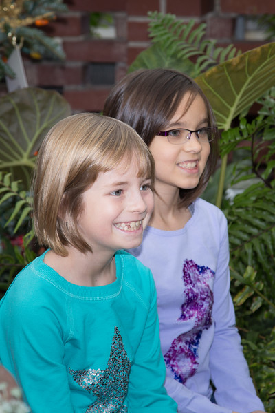 Ozge and Anna at Phipps Conservatory