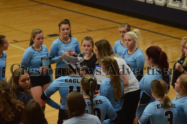 10-23 East Union- Lamoni Volleyball