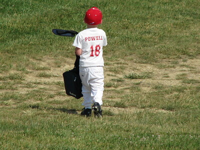 Carson playing baseball June 2011
