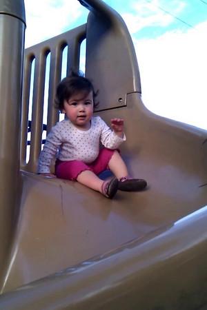 Kaitlin likes the slide