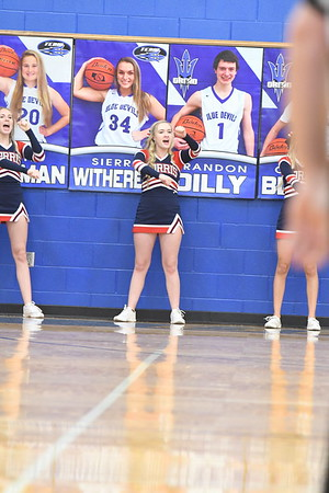 Cheerleaders -  Plattsmouth Basketball game