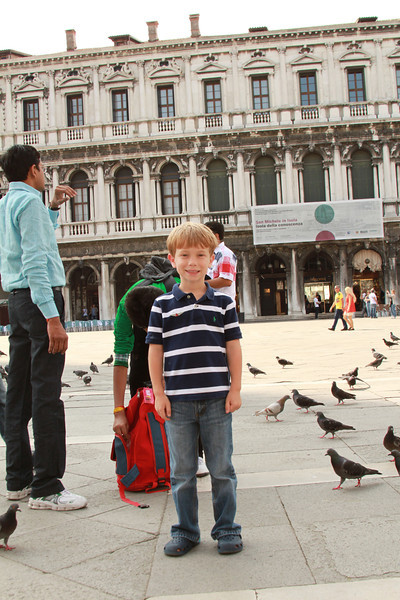 Gabe took a break from chasing pigeons to take a pic.