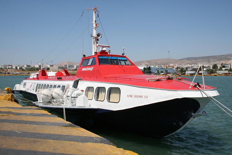 2009 - Hydrofoil FLYING DOLPHIN XVII moored in Piraeus.