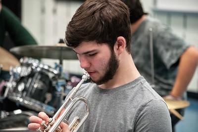 2020-01-15 RHS Jazz Band practice
