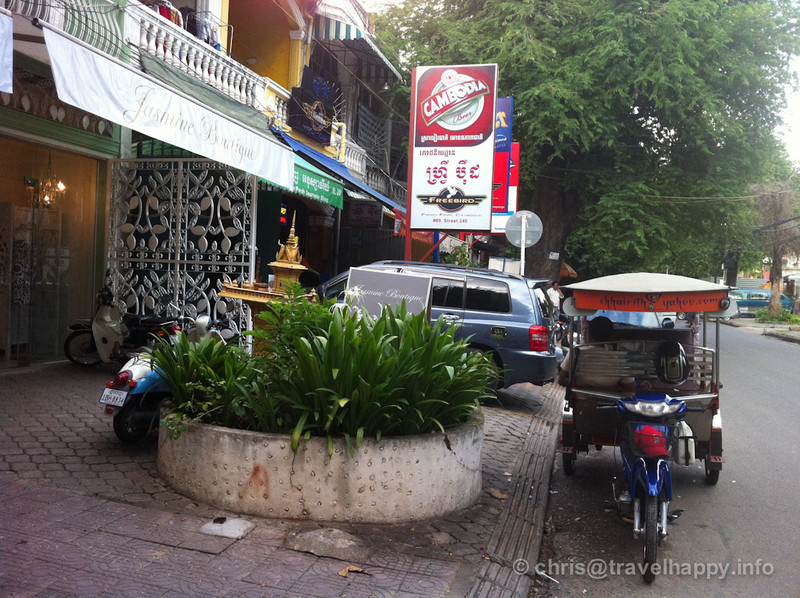Tuk tuks and trees, Phnom Penh