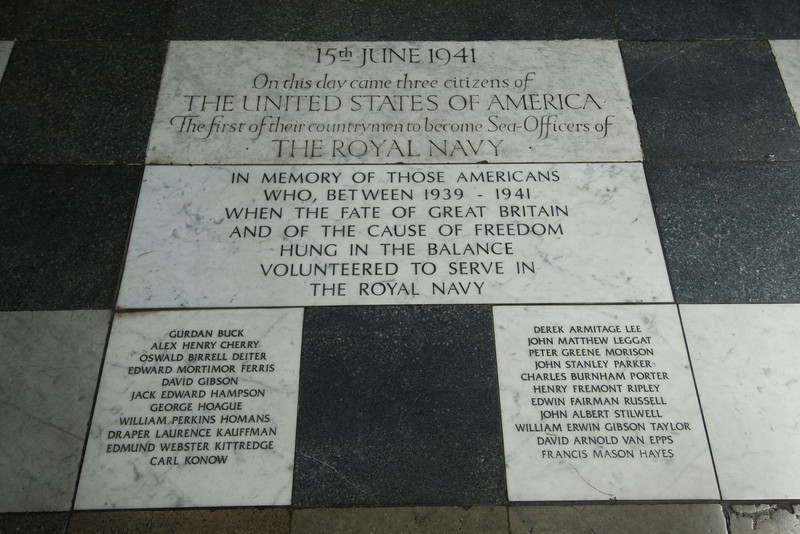 Memorial outside the Royal Naval College in Greenwich, England