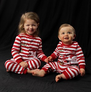 Christmas Pics with Stella and Logan