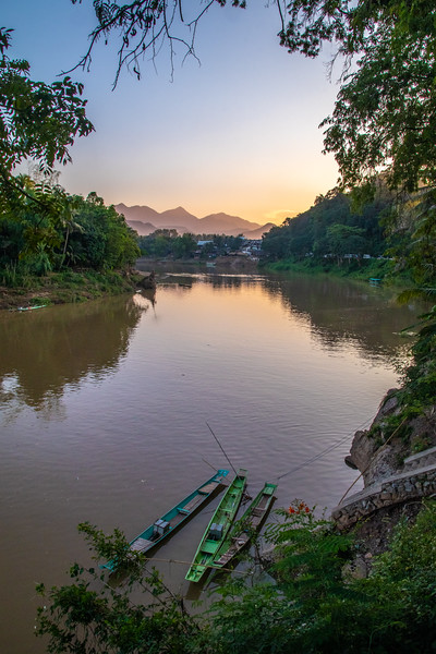 The Nam Khan river in Luang Prabang