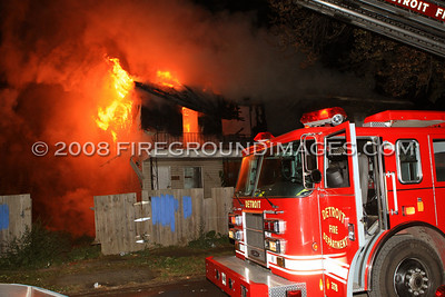 Trenton Ave. Fire (Detroit, MI) 10/14/07