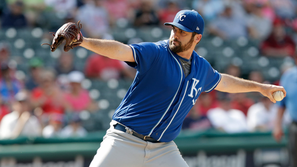 . Kansas City Royals relief pitcher Brian Flynn delivers in the eighth inning of a baseball game against the Cleveland Indians, Wednesday, Sept. 5, 2018, in Cleveland. (AP Photo/Tony Dejak)