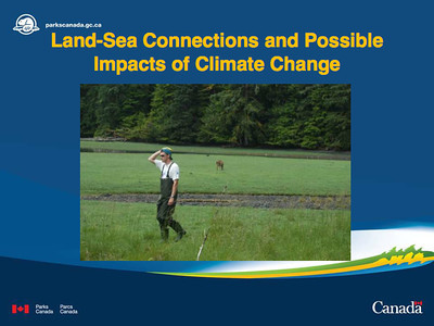 Marlow Pellatt's Climate Change, Upland Vegetation Interconnection with Intertidal Areas presentation
