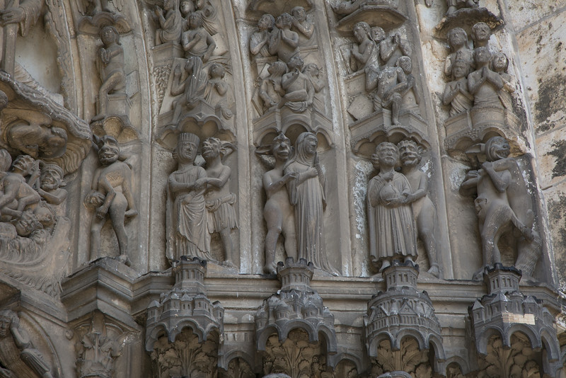 Chartres Cathedral South Porch Archivolt Figures, The Damned