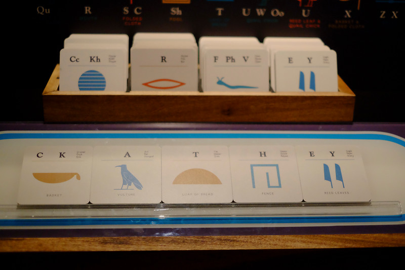 Hieroglyphic picture sound cards