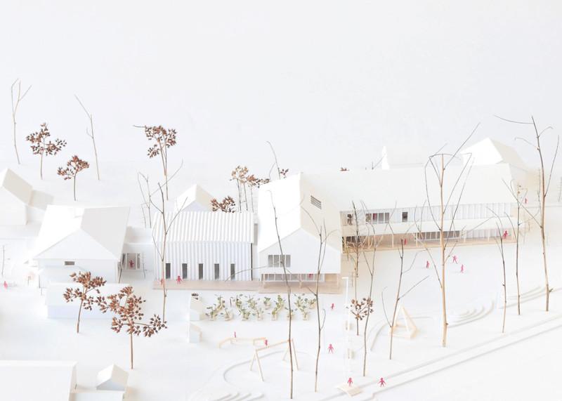 Maquette - Consortium Lucie Paquet + Paulette Taillefer + Leclerc architectes - Lauréat Lab-École - Maskinongé
