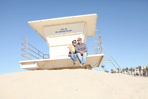Cathy + David | Huntington Beach E-Session