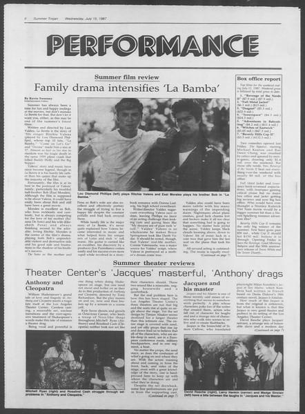 Summer Trojan, Vol. 104, No. 9, July 15, 1987