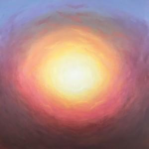 """""""Waiting for the sun"""" (acrylic on canvas) by Claudine Carmel"""