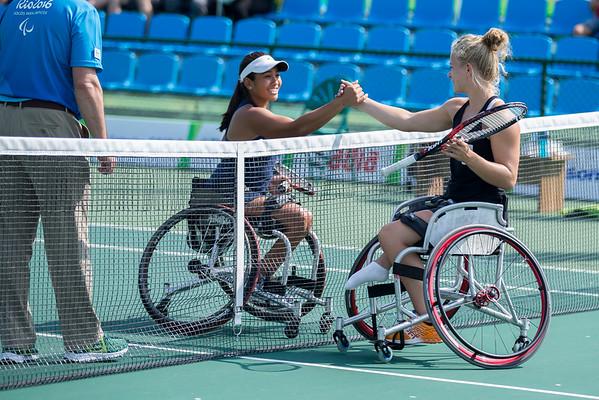 9-11-2016 Women's Singles, Second Round, Baron vs. de Groot