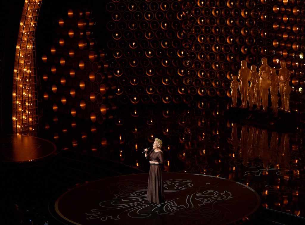. Bette Midler performs during the Oscars at the Dolby Theatre on Sunday, March 2, 2014, in Los Angeles.  (Photo by John Shearer/Invision/AP)
