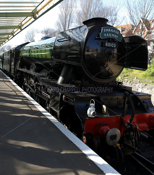 Swanage Railway with the Flying Scotsman 26th Match 2019