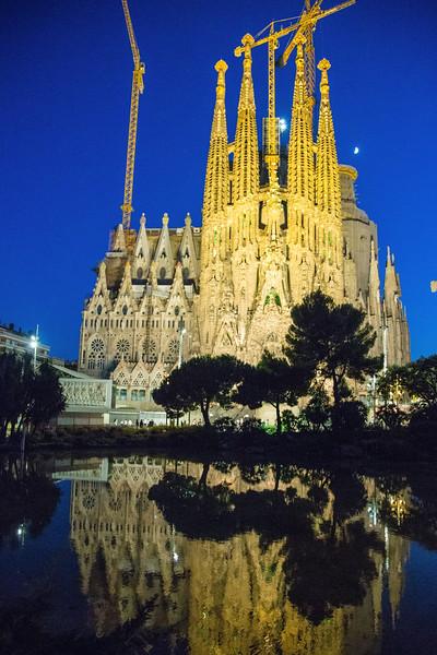 Sagrada Familia Barcelona Spain - July, 2016