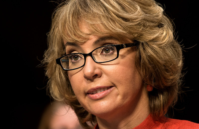 . Former Arizona Rep. Gabrielle Giffords, speaks during a hearing of the Senate Judiciary Committee on Capitol Hill January 30, 2013 in Washington, DC. The committee held the hearing with retired Astronaut Mark Kelly, husband of former Rep. Gabrielle Giffords, Wayne LaPierre, Chief Executive Officer of the National Rifle Association, and others to testify about solutions to gun violence in the United States.  BRENDAN SMIALOWSKI/AFP/Getty Images