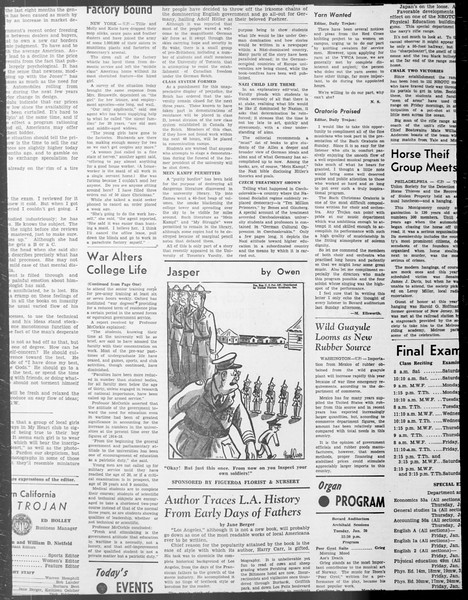 Daily Trojan, Vol. 33, No. 68, December 23, 1941