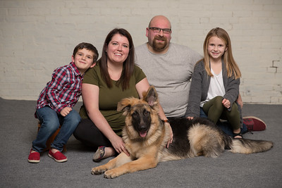 Lafrienere Family- Dog Adoption Foster Resuce Group Studio Portrait Christina Gil Isabella Jacob Teddy German Shepard Father Mother Mom Dad Son Daughter Siblings Brother Sister Rustic New England Photo Studio Westfield Ma Western Mass East Longmeadow Sout