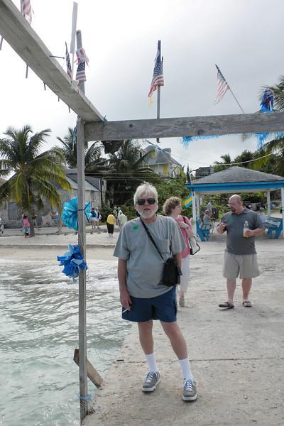 Frank on the pier in Tarpum Bay, Eleuthera