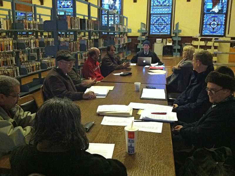 January 10, 2011, meeting of the Library's Board of Directors  in the chilly Auditorium.