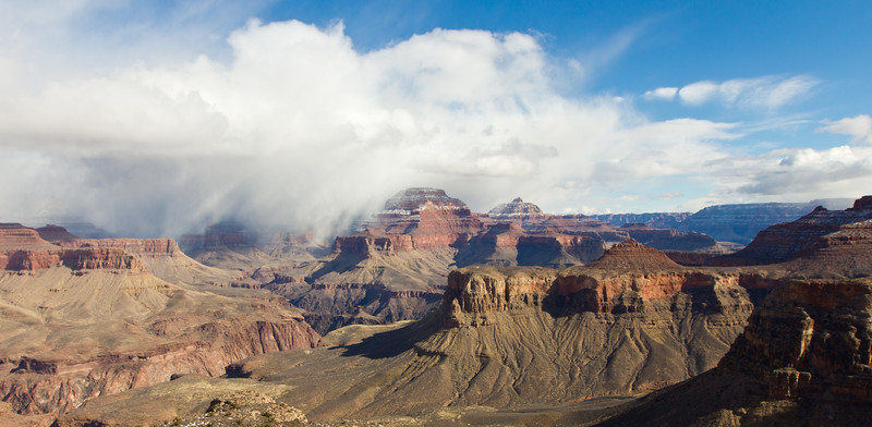 Showing over the Grand Canyon
