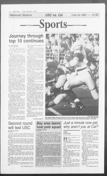Daily Trojan, Vol. 116, No. 44, November 01, 1991