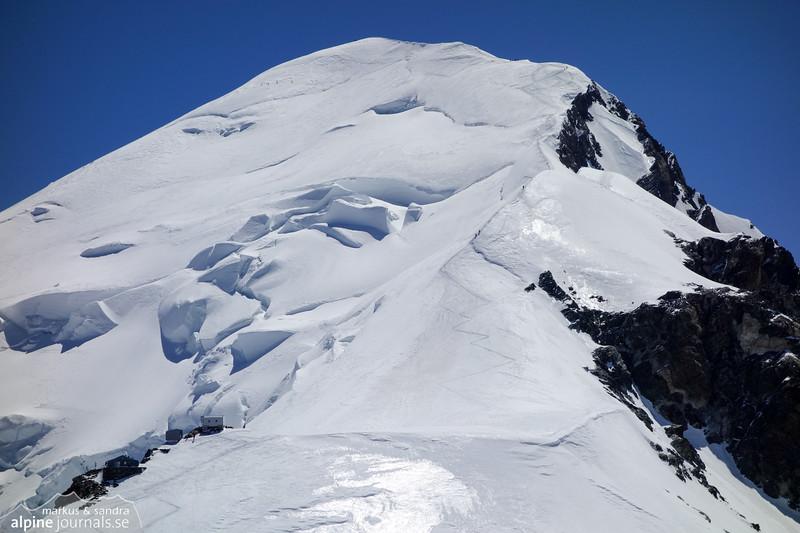 Mont Blanc from Dôme de Goûter, after our traverse of Bionassay.