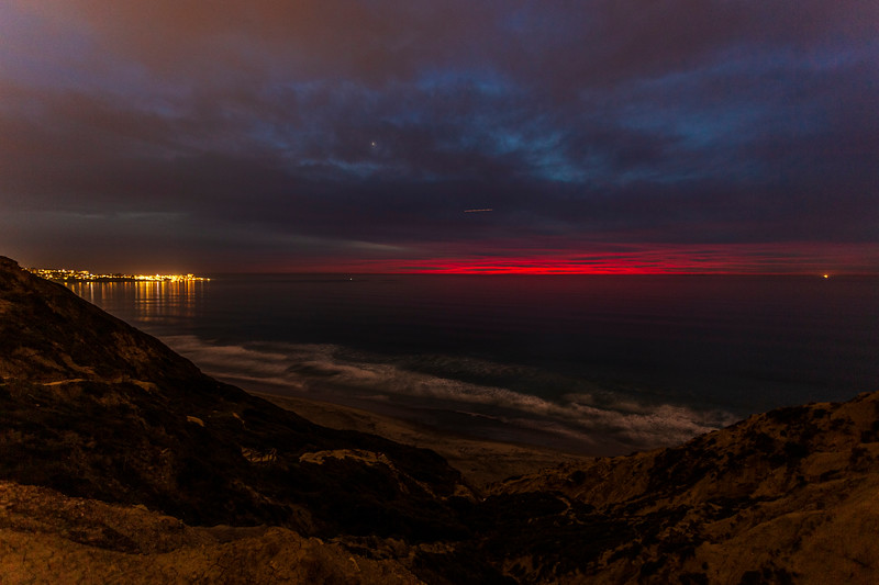 Torrey Pines Gliderport Blue and Pink Sunset. 4 of 4.