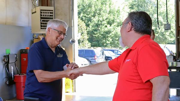 August 29:  Larry's retirement luncheon .  .  .
