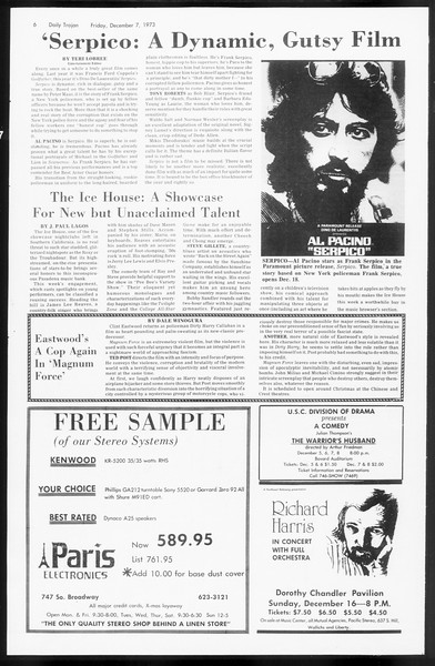 Daily Trojan, Vol. 66, No. 53, December 07, 1973