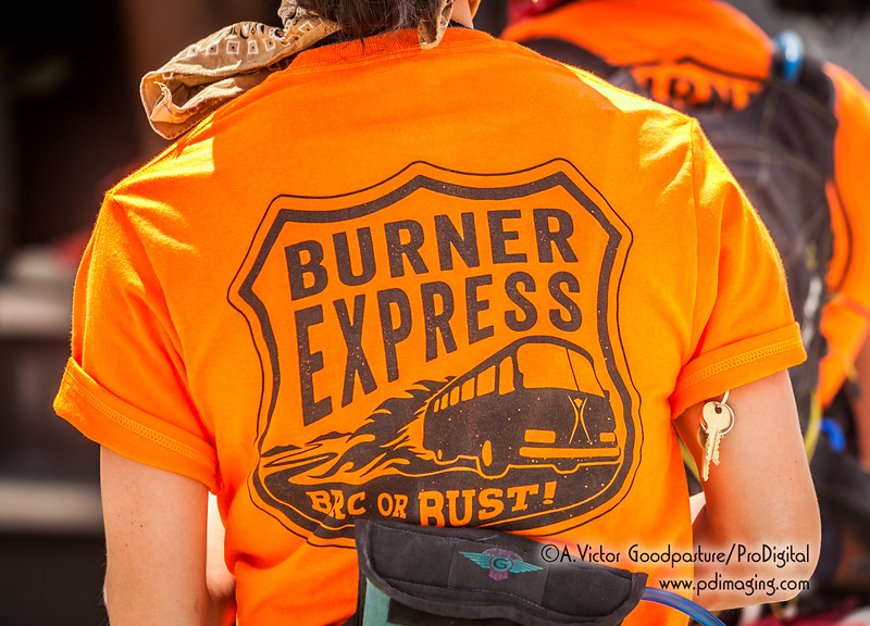 Some people took the Burner Express to get out to the playa.