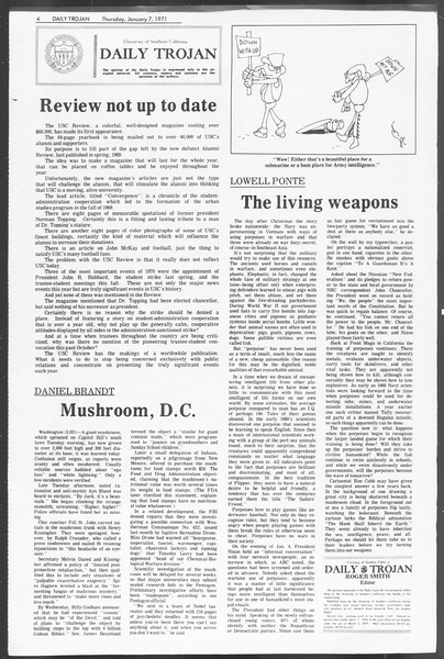 Daily Trojan, Vol. 62, No. 59, January 07, 1971