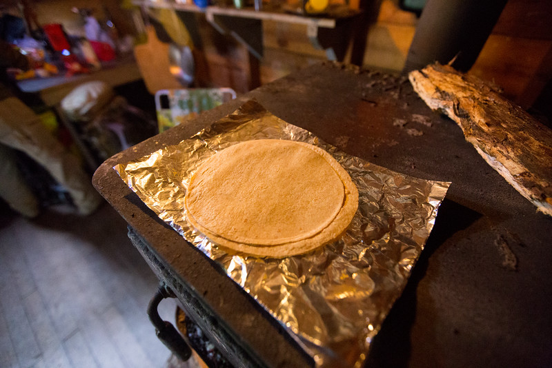 Warm'n up my tortillas for lunch!