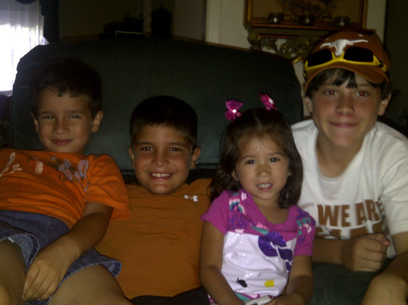 Mikey, Ethan, Belén and Grant.