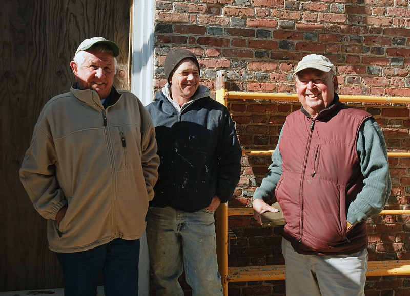 #45 rackliffe house, march 2009, Tom Patton (far right)