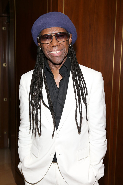. Musician Nile Rodgers attends the Warner Music Group annual GRAMMY celebration on January 26, 2014 in Los Angeles, California.  (Photo by Imeh Akpanudosen/Getty Images for Warner Bros.)