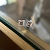 1.47ctw Carre Cut Diamond Pair GIA F VS2 15