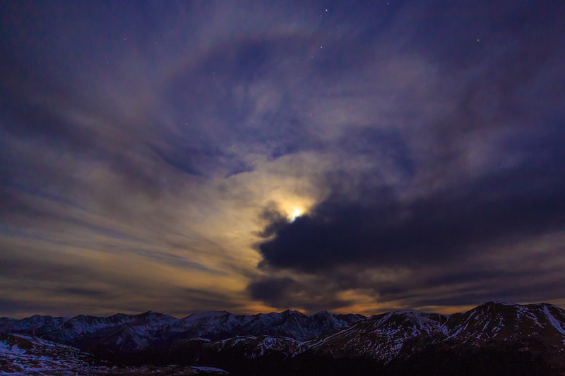 Lunar Eclipse Cloudscape