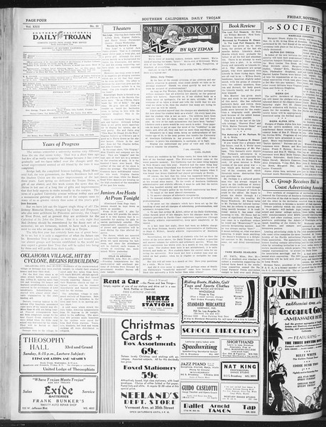 Daily Trojan, Vol. 22, No. 50, November 21, 1930